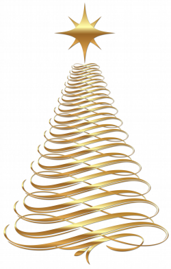 Large Transparent Christmas Gold Tree Clipart | Gallery ...