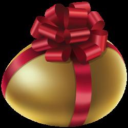 Easter Golden Egg with Red Bow PNG Clip Art Image | Húsvéti PNG ...