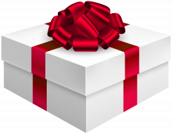 Gift Box with Bow in Red PNG Clipart - Best WEB Clipart