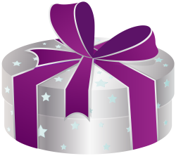 Silver Gift Box with Stars PNG Clipart - Best WEB Clipart