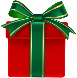 Christmas gift Green Christmas Day Clip art - Red Gift Box with ...