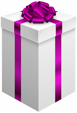 Gift Box with Purple Bow PNG Clipart - Best WEB Clipart
