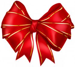 Red Bow with Gold Edging Transparent PNG Image | ClipArt | Pinterest