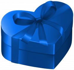 Blue Heart Gift Box PNG Clipart Image | Gallery Yopriceville - High ...
