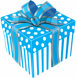 Cute Blue Gift Box Transparent PNG Clip Art Image | Gift Boxes ...