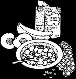 OnlineLabels Clip Art - Breakfast With Cereal