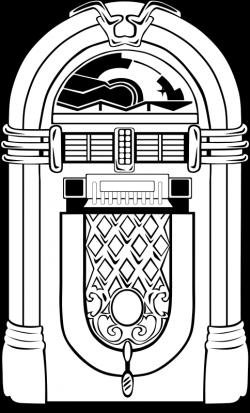 Free Fifties Jukebox | coloring page | Pinterest | Jukebox, Vector ...