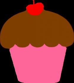 Cupcake With Cherry Clip Art at Clker.com - vector clip art online ...