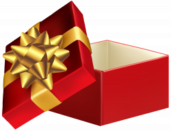 Gift Box Christmas Day Clip art - Red Open Gift Box PNG Clip Art ...