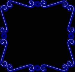 Blue Swirl Frame Clip Art at Clker.com - vector clip art online ...