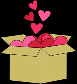 Box of Valentine Hearts Clip Art - Box of Valentine Hearts Image