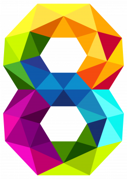 Colourful Triangles Number Eight PNG Clipart Image | Gallery ...