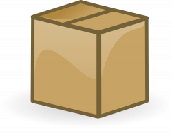 OnlineLabels Clip Art - Closed Box