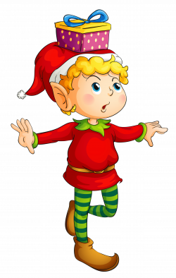 Christmas Elf with Gift PNG Picture   Christmas Crafts   Pinterest ...