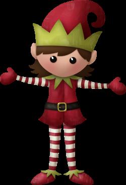 KAagard_MerryChristmas_ElfGirl1.png | Pinterest | Girl elf, Clip art ...