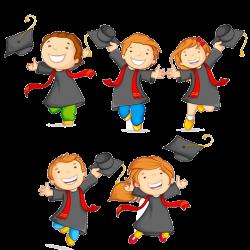 Graduation ceremony Pre-kindergarten Pre-school Clip art - Cartoon ...