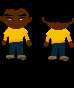 Clipart - Black Boy - PNG