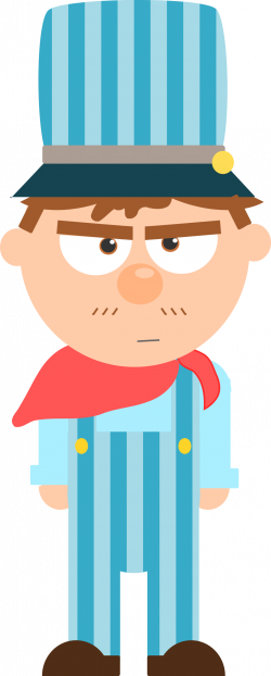 Clipart - Train engineer cartoon
