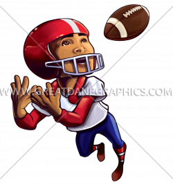 Football Kid Catch | Production Ready Artwork for T-Shirt Printing