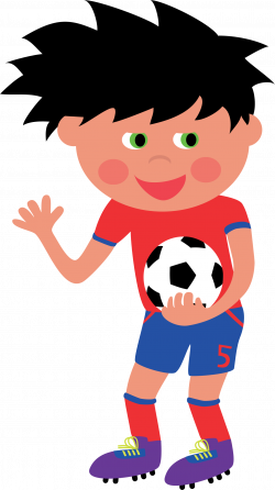 Clipart - Football Kid