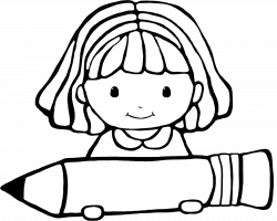 girl and boy writing clipart - Clipground