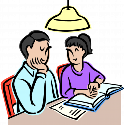 28+ Collection of Children Doing Homework Clipart | High quality ...