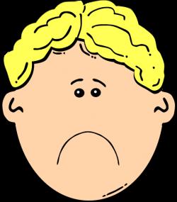 Sad Boy Clip Art at Clker.com - vector clip art online, royalty free ...