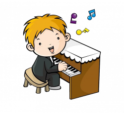 Music lesson Drawing Musical note Clip art - Cartoon boy playing the ...
