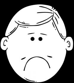 Sad Boy Outline Clip Art at Clker.com - vector clip art online ...