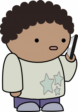 Clipart - Talking on the phone