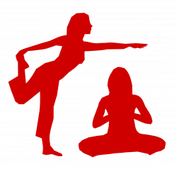 Leisure clipart yoga - Pencil and in color leisure clipart yoga