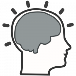 Silhouette Brain at GetDrawings.com | Free for personal use ...