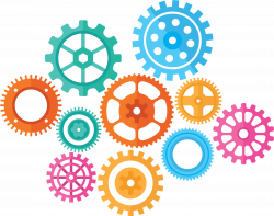 Colorful Gears PNG Transparent Colorful Gears.PNG Images. | PlusPNG