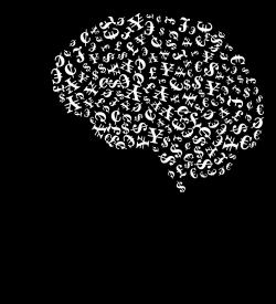 Clipart - Greedy Man Brain