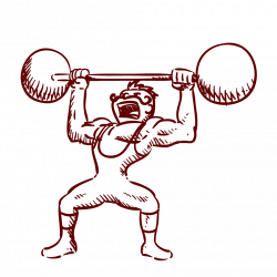 Weight Lifting Drawing at GetDrawings.com | Free for personal use ...