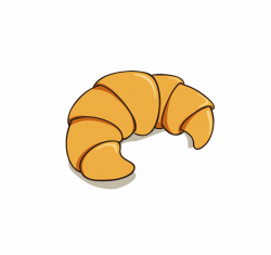 Croissant Breakfast Bread - Hand-painted cartoon croissant 2480*2340 ...
