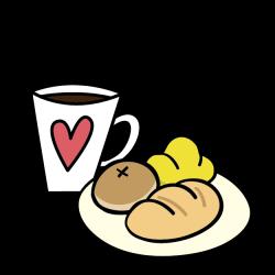 Breakfast Coffee Food Bread Clip art - Cartoon cute breakfast 625 ...