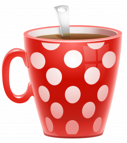 Red Dotted Coffee Cup PNG Clipart Picture   Fruits, vegetables ...