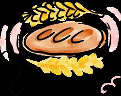 Croissant Bread Watercolor painting Baking Clip art - Wheat bread ...