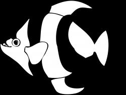 Tropical Fish Clip Art Black And White | Clipart Panda - Free ...
