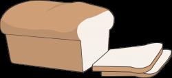 Clip Art Black And White Piece Of Bread