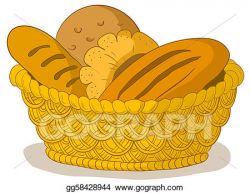 Clipart - Bread in a basket. Stock Illustration gg58428944 ...