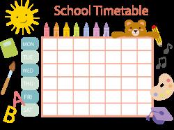 School timetable Schedule Template Clip art - Pastel crayon schedule ...