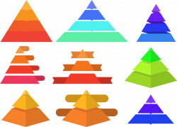 Infographic Clip art - Various Pyramid Chart 1224*880 transprent Png ...