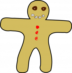 Gingerbread Man Free Vector - Clip Art Library