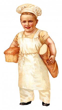 Antique Images: Free Bread Baking Clip Art Boy Baker Vintage ...