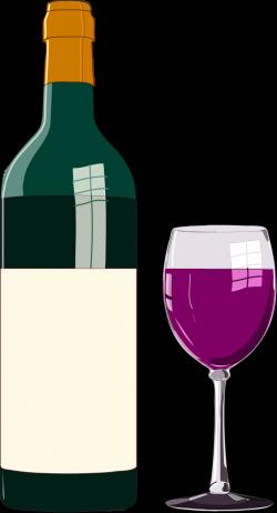 Public Domain Clip Art Image | Wine bottle and glass | ID ...