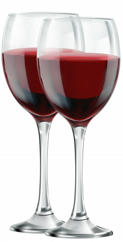 Red Wine Cabernet Sauvignon Champagne - Two Glasses of Red Wine PNG ...