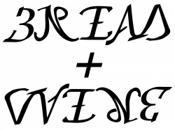 Clipart - bread and wine ambigram (upper case) remix