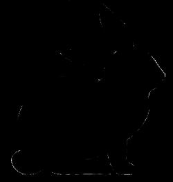 rabbit silhouette | Siluetter | Pinterest | Animal silhouette ...